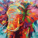 Schilderijen: Art-Prints, Mighty elephant