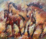 Gemälden: Pferden, Trakehner, Öl auf Leinwand, 100 x 120 cm