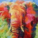 Paintings: Sold work, Big daddy, oil on canvas, 120x120 cm
