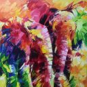 Paintings: Sold work, Brother and sister, oil on canvas, 120x120 cm