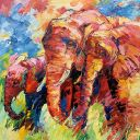 Paintings: Sold work, Just beïng together, oil on canvas, 120x120 cm
