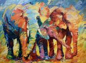 Paintings: Sold work, The perfect family, oil on canvas, 100x140 cm